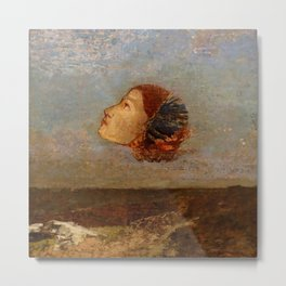 """Odilon Redon """"Hommage a Goya"""" Metal Print"""