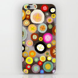 The incident - Circles pale vintage cross iPhone Skin