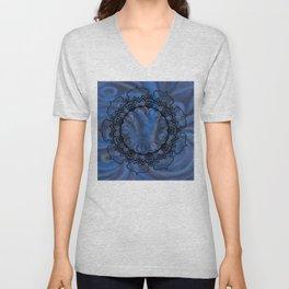 Water Swirl Mandala Unisex V-Neck
