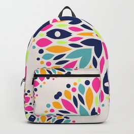 Colorful Ethnic Festive Abstract Floral Pattern Backpack