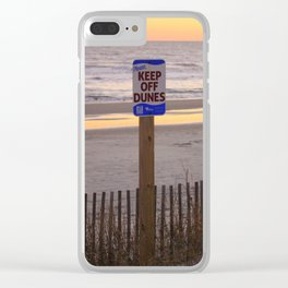 Keep Off Dunes Clear iPhone Case