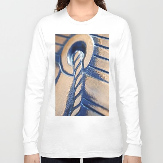 Abstract and Gold Long Sleeve T-shirt