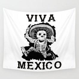 Viva Mexico Mad Dead Mariachi Wall Tapestry