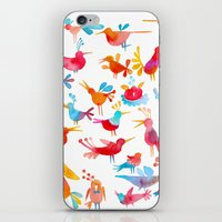 takmaj iPhone & iPod Skins featuring Birds by takmaj
