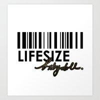 LIFESIZE BABY D♡LL.  Art Print