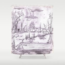 Gone Fishin' 1 Shower Curtain