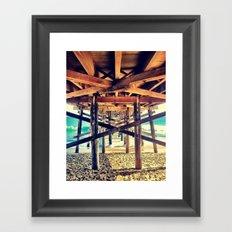 Under the Pier- Landscape Framed Art Print