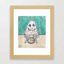Breafast Slime Framed Art Print