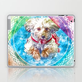Penny the Yorkipoo rainbow colors Laptop & iPad Skin