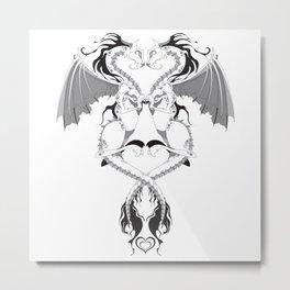Love Dragons Metal Print