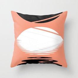 eclipse abstract geometrical art Throw Pillow