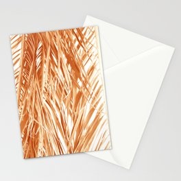 Dried palm leaves abstract Stationery Cards
