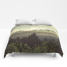 Morning in the Mountains Comforters