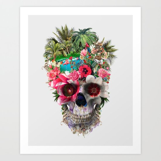 Summer Skull IV Art Print