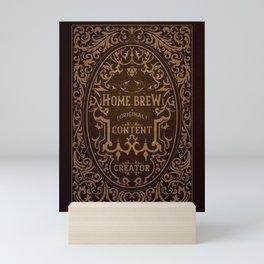 D20 Home Brew Content Creator Aged Label Mini Art Print