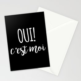 Oui c'est moi quote Stationery Cards