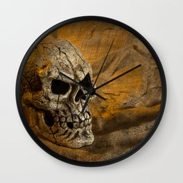 Skull And Sackcloth Wall Clock