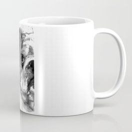 Black And White Half Faced English Bulldog Coffee Mug