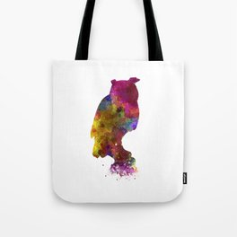 Owl 01 in watercolor Tote Bag