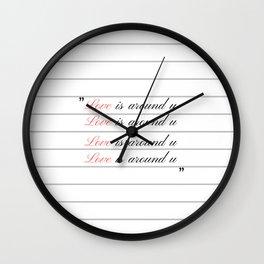 Love is around u Wall Clock
