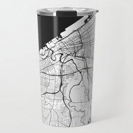Cleveland Map Gray Travel Mug