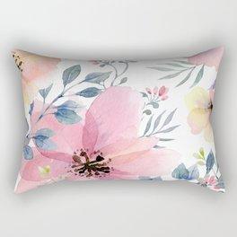 flower watercolor 1 Rectangular Pillow