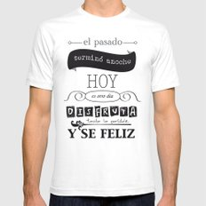 ¡Vive el presente! Mens Fitted Tee White SMALL