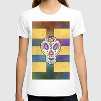 sugar skull T-shirts featuring Sugar Skull by Linda Tomei