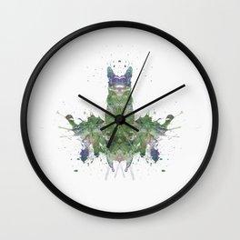 Rorschach inkblot LIX Wall Clock