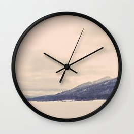 Winter Mountain Wall Clock