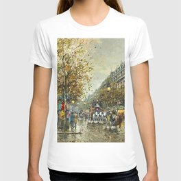 Paris, Autumn Cityscape by Antoine Blanchard T-shirt
