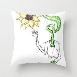 Waiting Sun. Throw Pillow