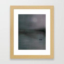 Night sailing Framed Art Print