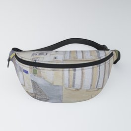 Narrow streets in Chinons old town (France) Fanny Pack