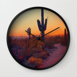 A Cactus Grows In Phoenix Wall Clock