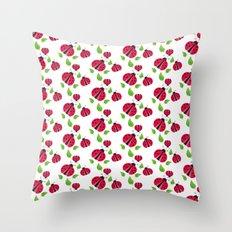 Ladybird pattern Throw Pillow