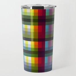 Colorful Grid Nariphon Travel Mug