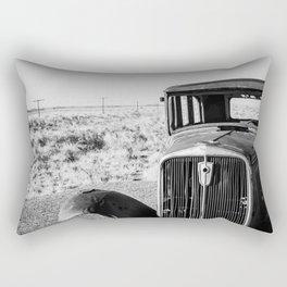 Abandoned Old Car In Desert Rectangular Pillow