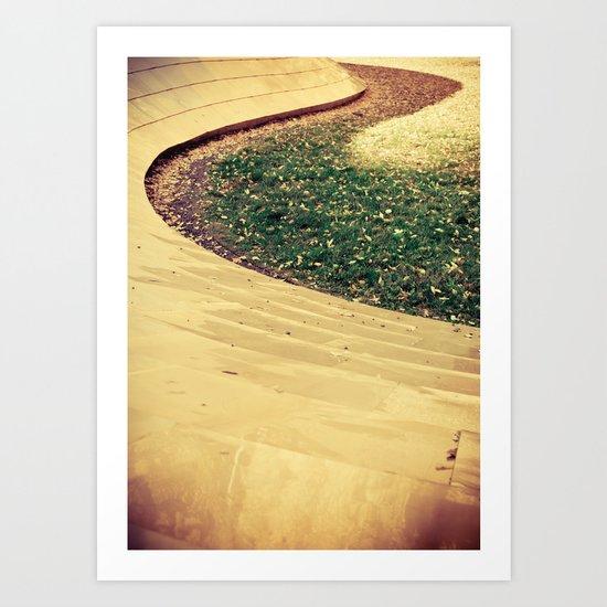 Golden Curve Art Print