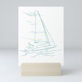 Sailing Sailer Mini Art Print