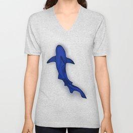 Shark in the deep Unisex V-Neck