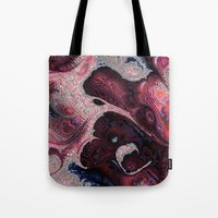 funky Tote Bags featuring Funky fractal by MehrFarbeimLeben