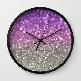 Lilac and Gray Wall Clock
