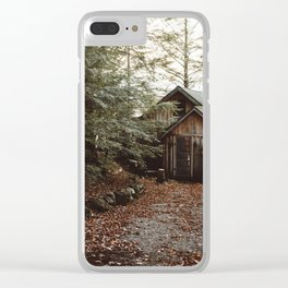 Cabin on Pleasant Lake Clear iPhone Case