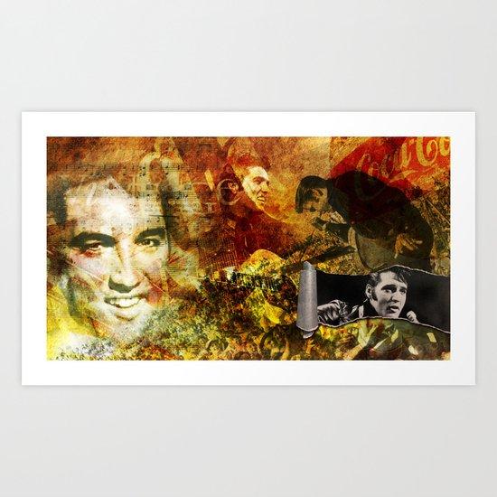 Elvis Presley - Vintage Style -  Art Print