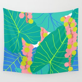 Elephant Ear Leaves + Sea Grapes Wall Tapestry