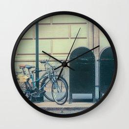 Bicycles and Mailbox Wall Clock