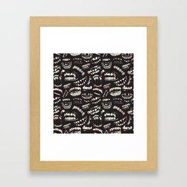 Monster Mouths Framed Art Print