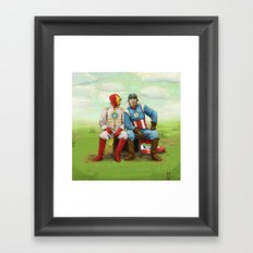 Friends? Framed Art Print