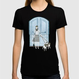Lady With Two Dogs T-shirt